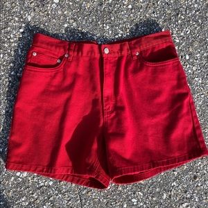 Vintage red Tommy Hilfiger high waisted shorts